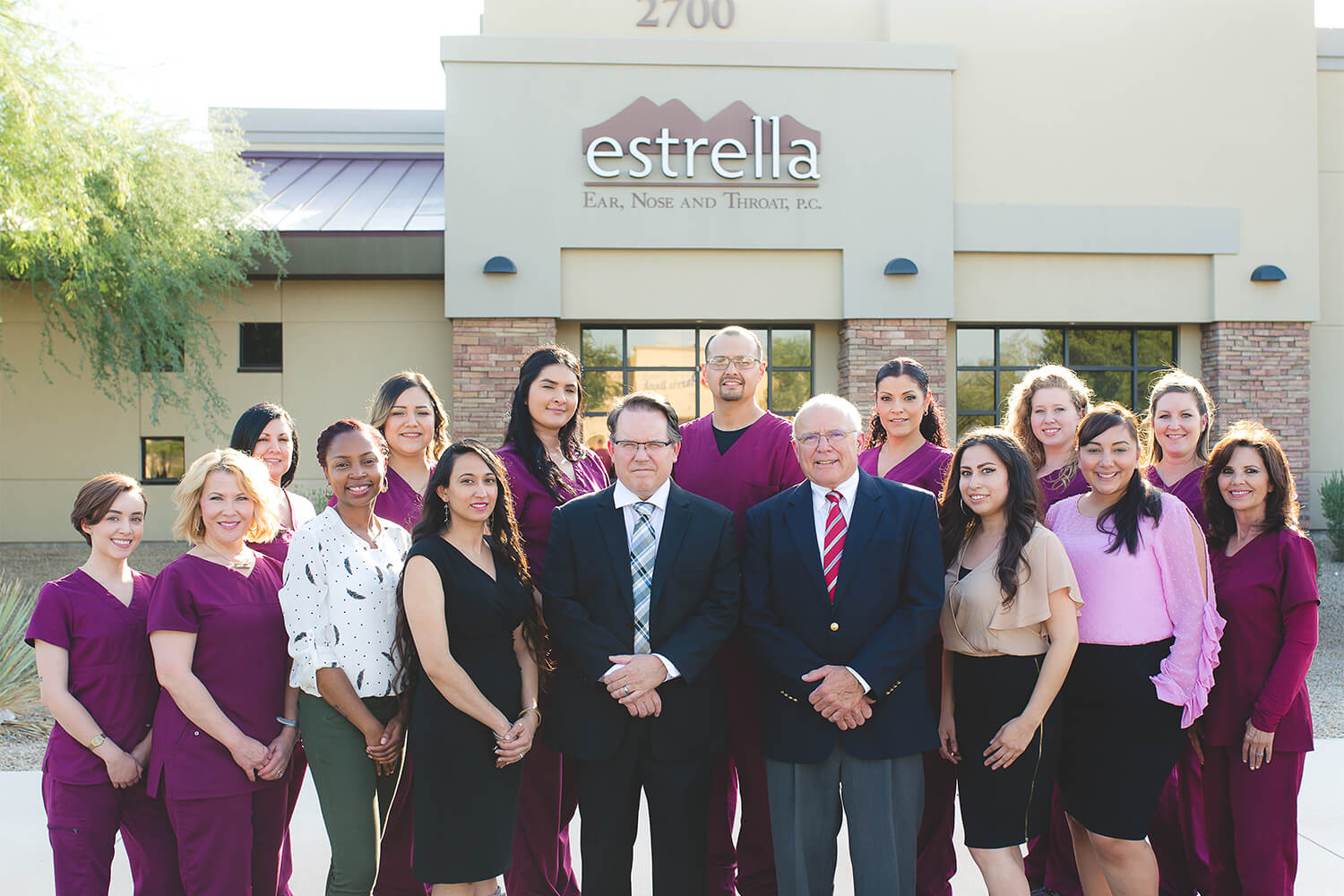 Estrella ENT Team in front of the Goodyear office